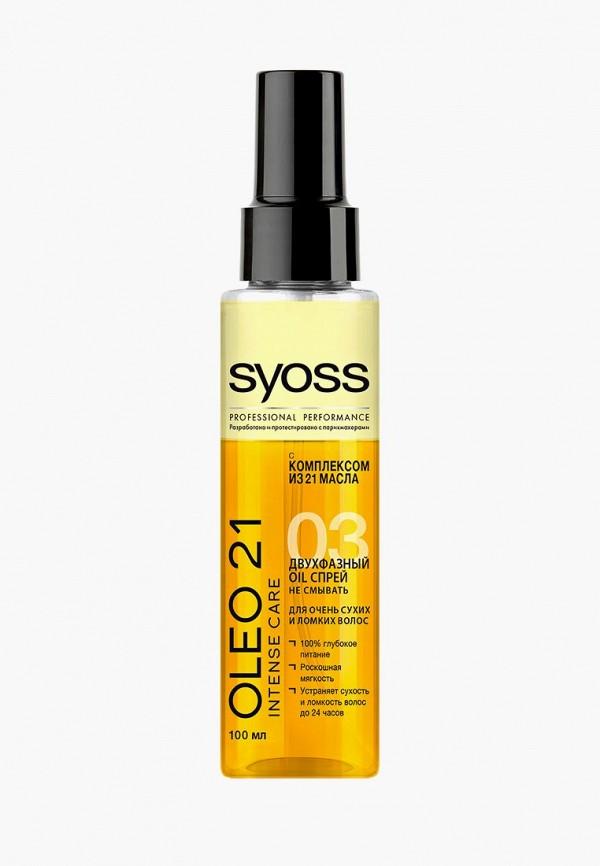 Купить Спрей для волос Syoss, Oleo 21 Intense Care Двухфазный oil для очень сухих и ломких волос 100 мл, sy001lwcsdk6, прозрачный, Осень-зима 2018/2019
