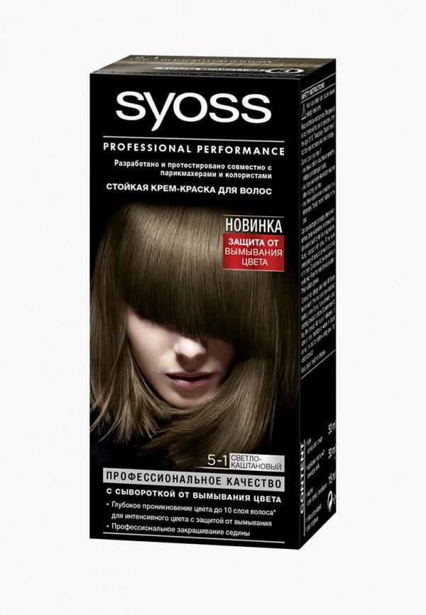 Купить Краска для волос Syoss, Color 5-1 Светло-каштановый 115мл, sy001lwcsdl6, коричневый, Весна-лето 2019
