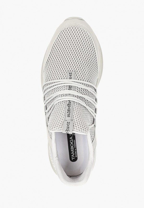 Фото 4 - мужские кроссовки Tamboga серого цвета