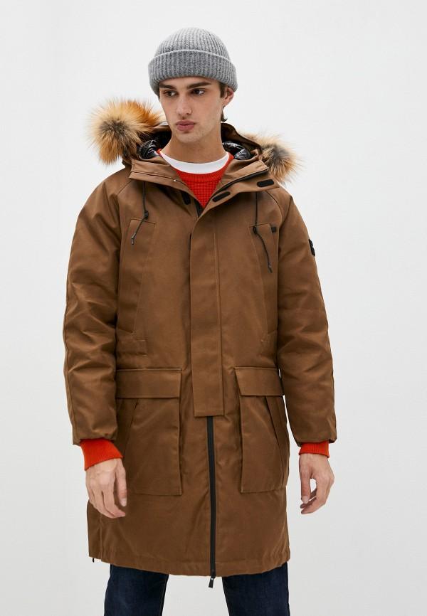 мужской пуховик tatras, коричневый