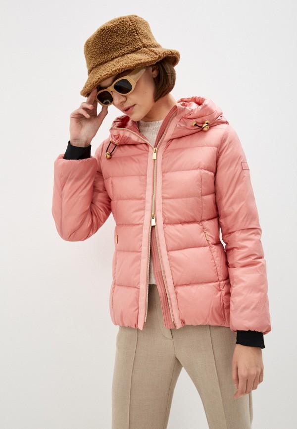 женский пуховик tatras, розовый