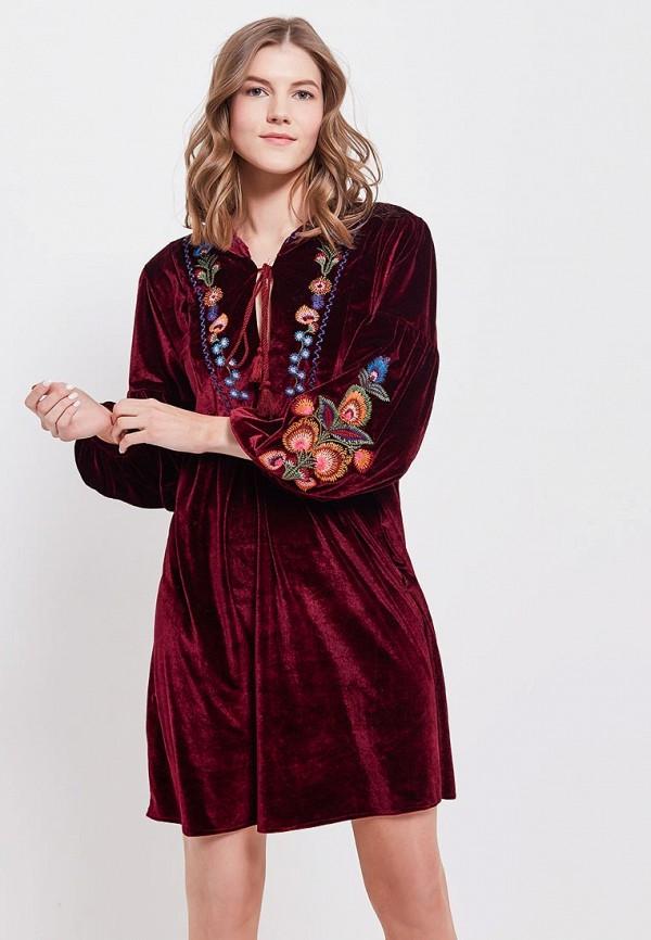 Платье Tantra, TA032EWAFXZ1, бордовый, Весна-лето 2018  - купить со скидкой