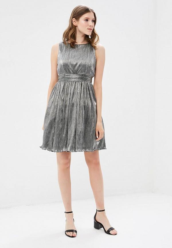 женское вечерние платье tantra, серебряное