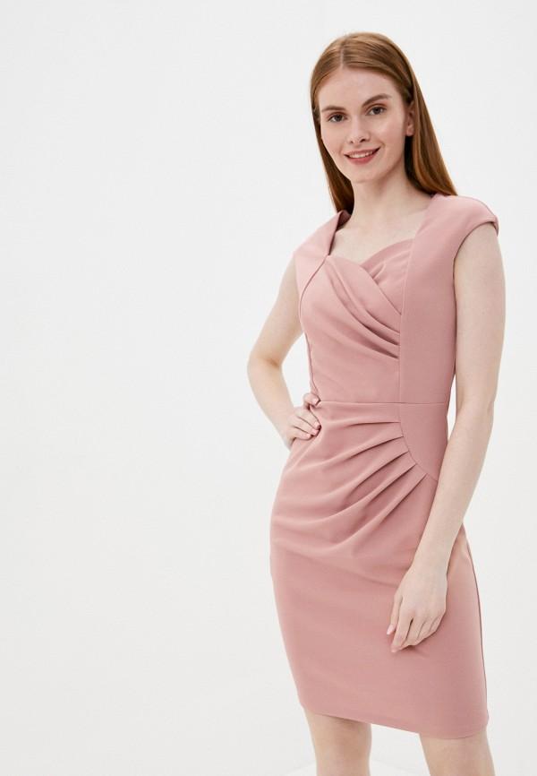 женское платье-футляр tantra, розовое