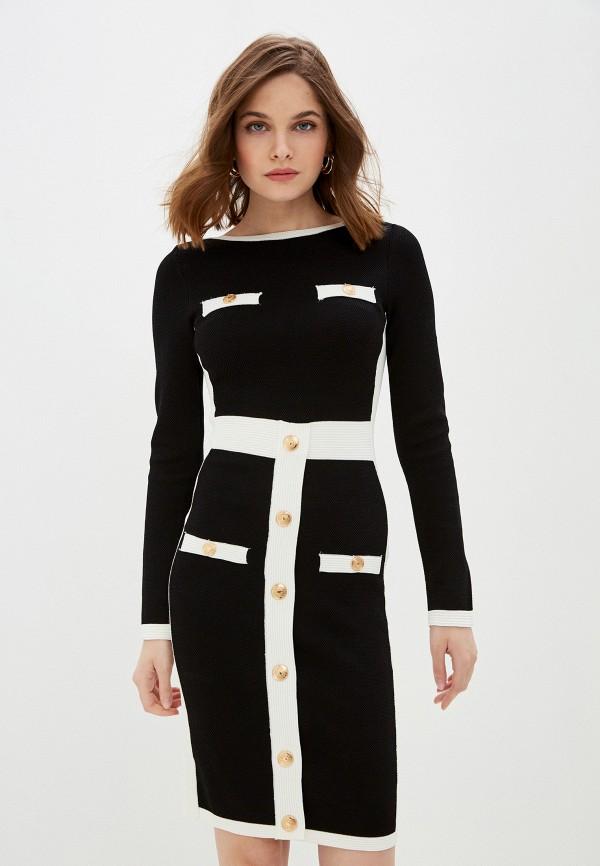 женское платье-футляр tantra, черное