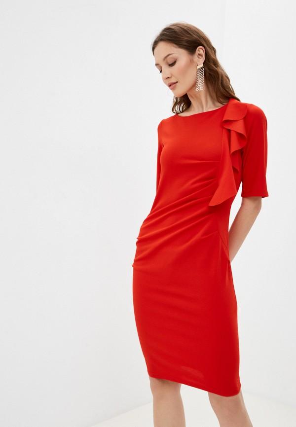женское платье-футляр tantra, красное
