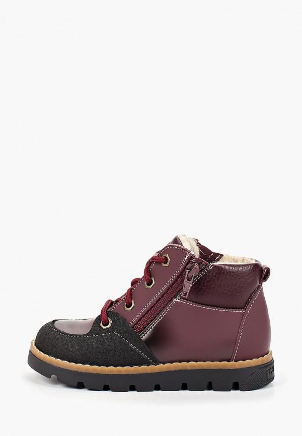 ботинки tapiboo для девочки, бордовые