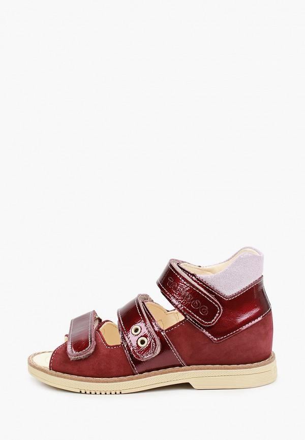 сандалии tapiboo для девочки, бордовые