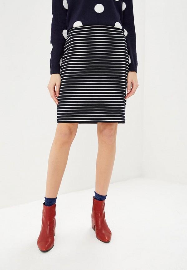 женская прямые юбка taifun, синяя