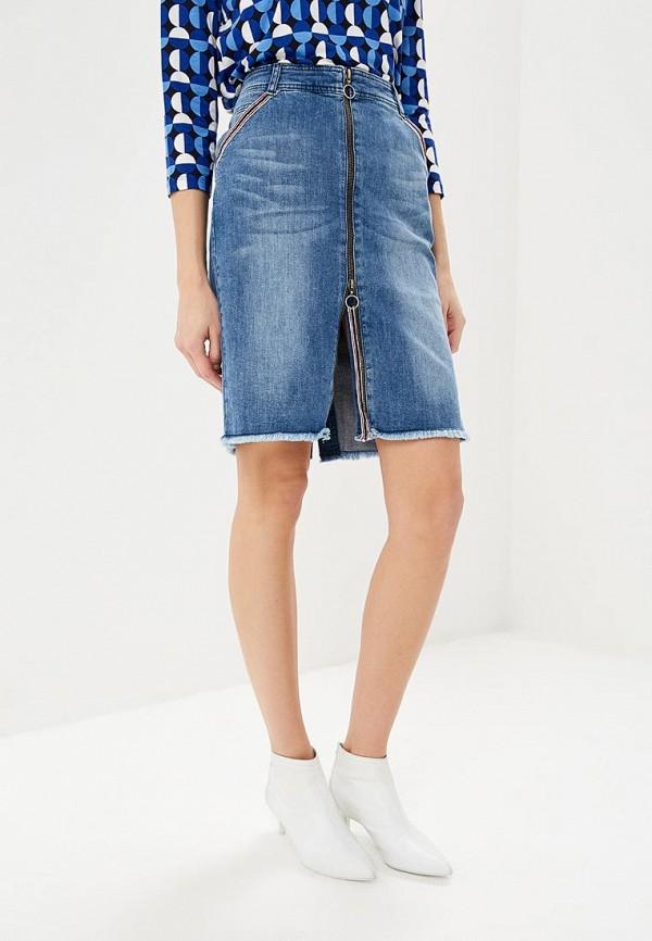 женская джинсовые юбка taifun, синяя
