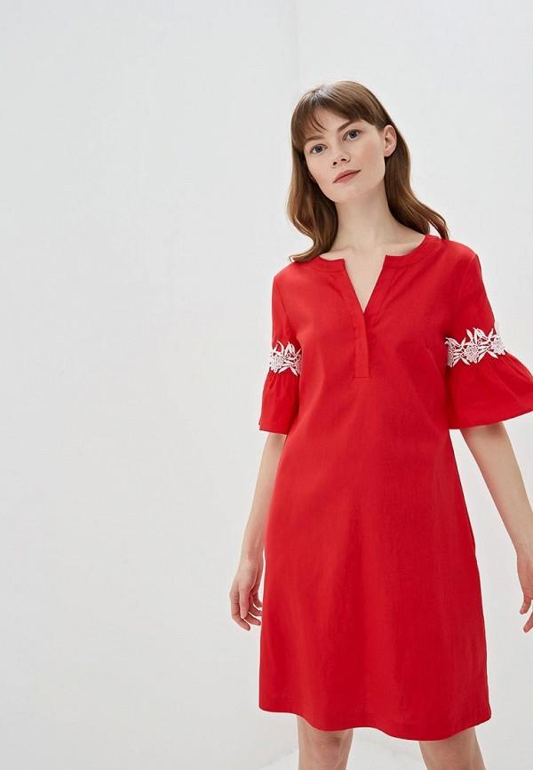 женское повседневные платье taifun, красное
