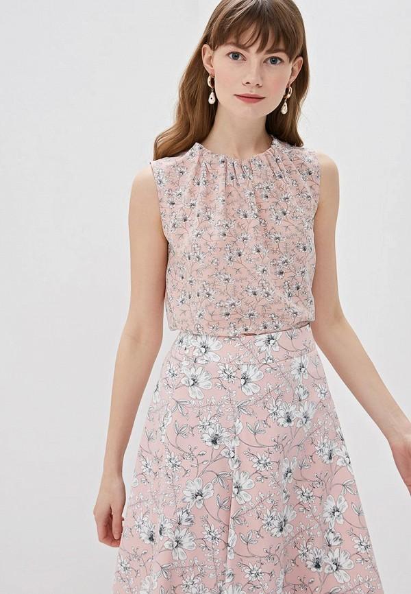 женская блузка taifun, розовая
