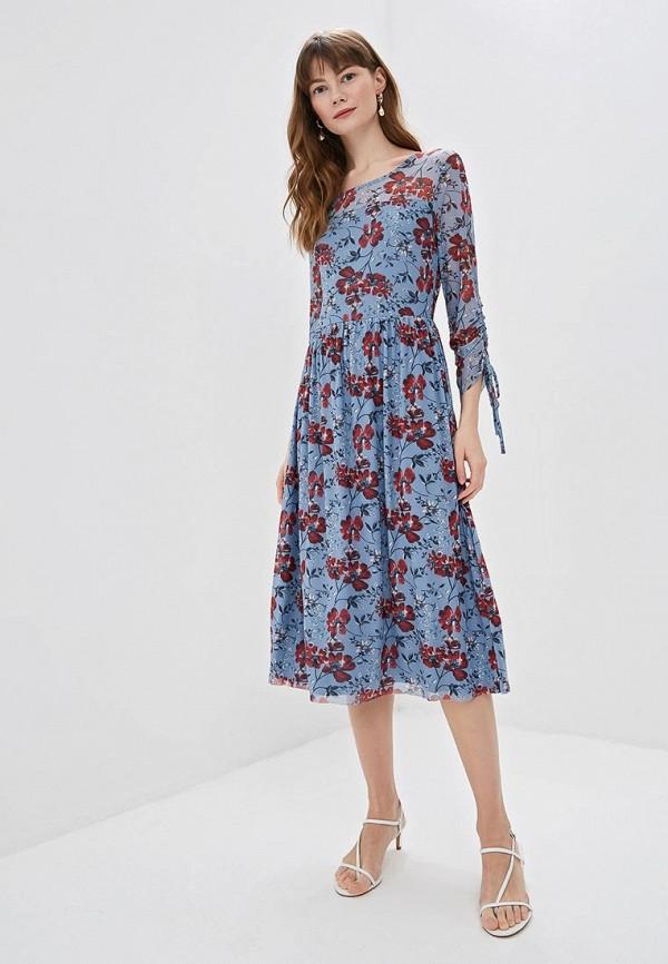женское повседневные платье taifun, голубое
