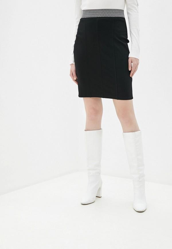 женская прямые юбка taifun, черная