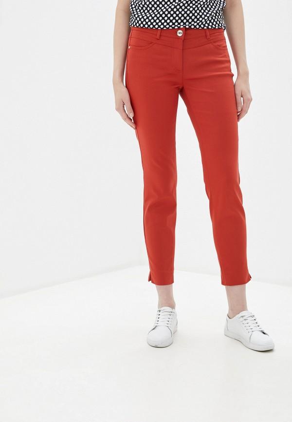 женские повседневные брюки taifun, оранжевые