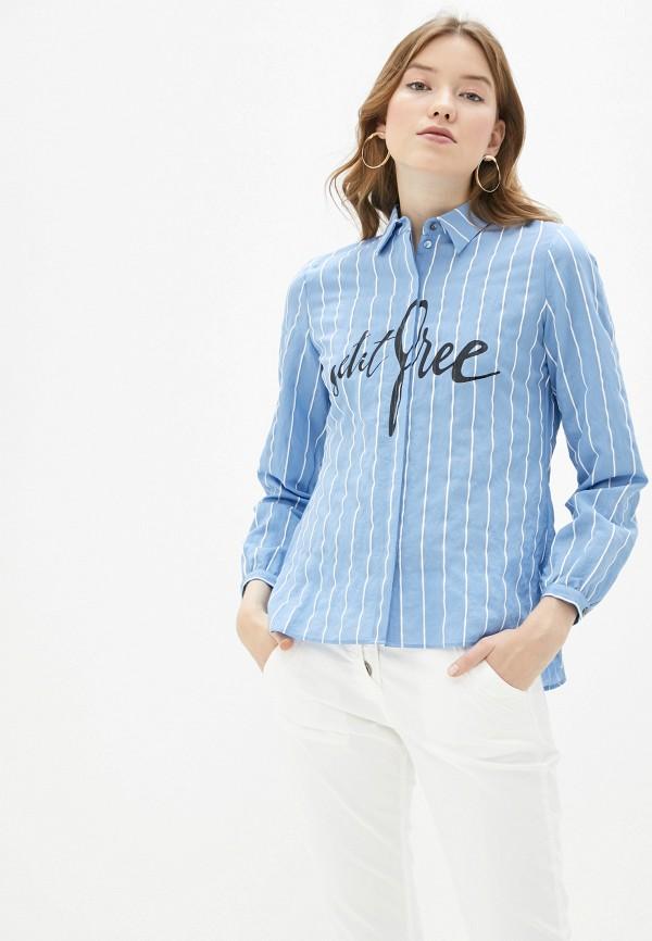 женская блузка taifun, голубая