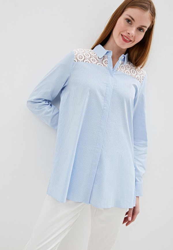 женская блузка taifun, синяя