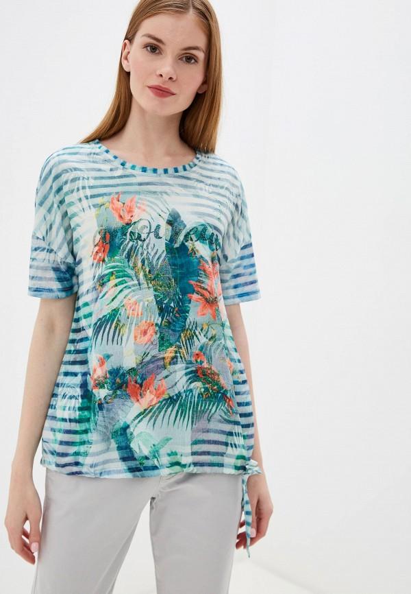 женская блузка taifun, зеленая