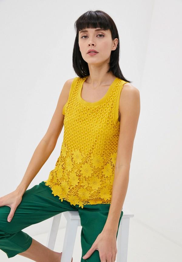 женский топ taifun, желтый