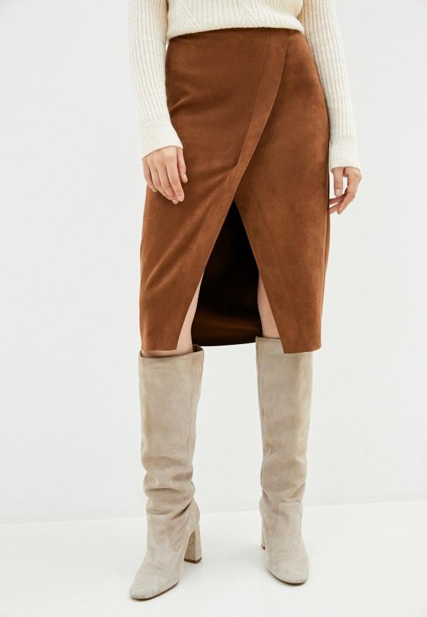 женская юбка taifun, коричневая