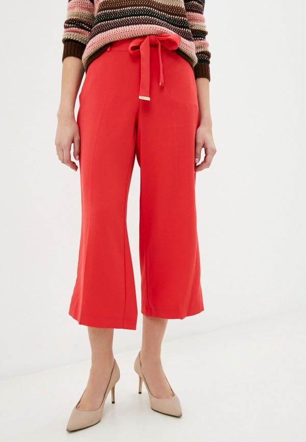 женские прямые брюки taifun, красные