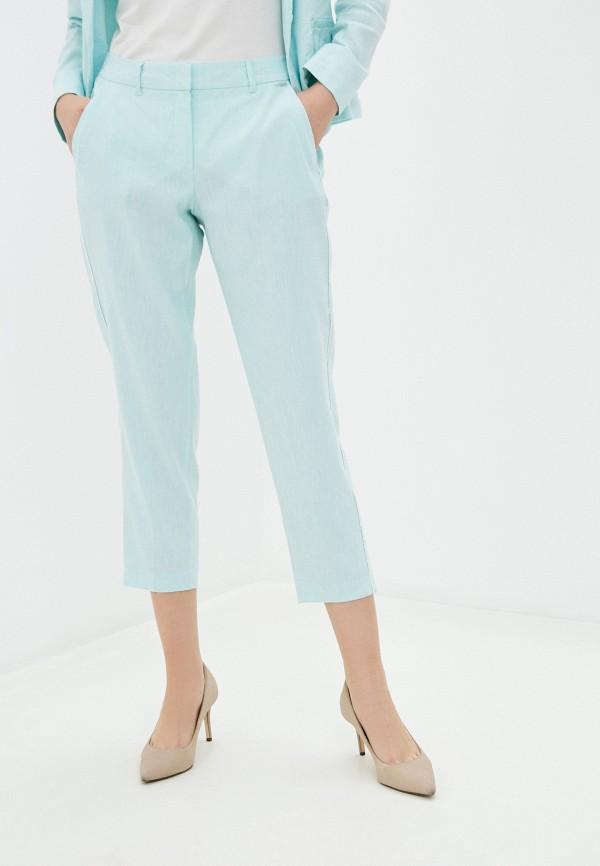 женские прямые брюки taifun, голубые