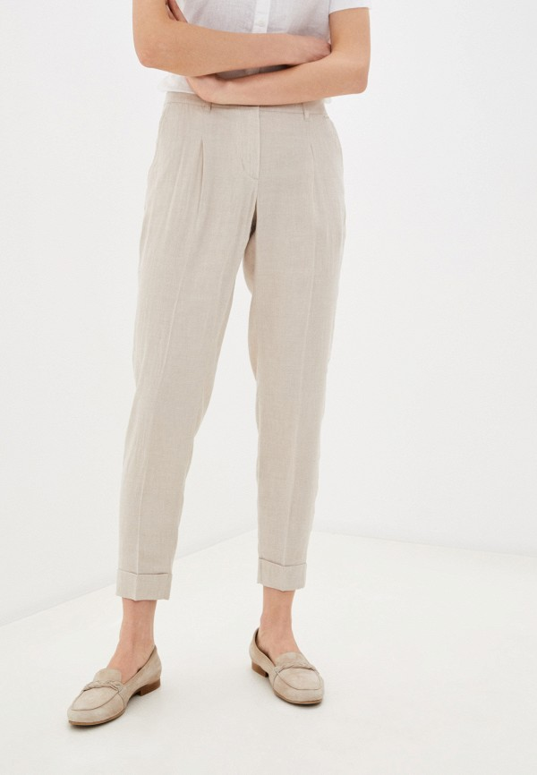 женские прямые брюки taifun, бежевые