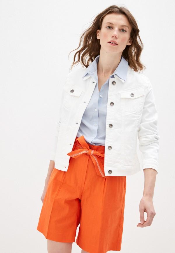 женская джинсовые куртка taifun, белая