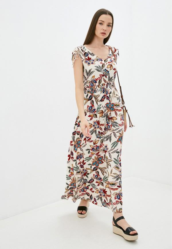 женское повседневные платье taifun, бежевое