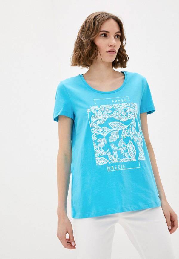 женская футболка taifun, бирюзовая