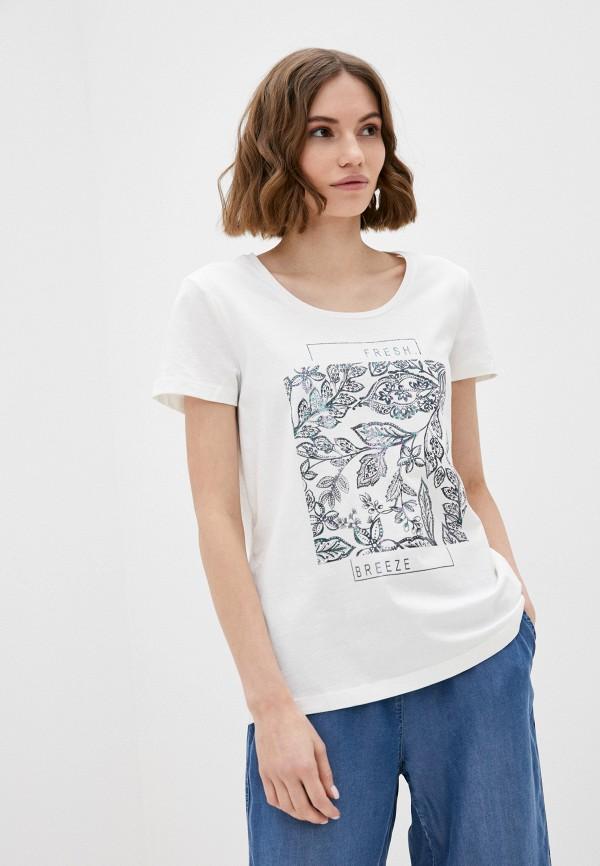 женская футболка taifun, белая
