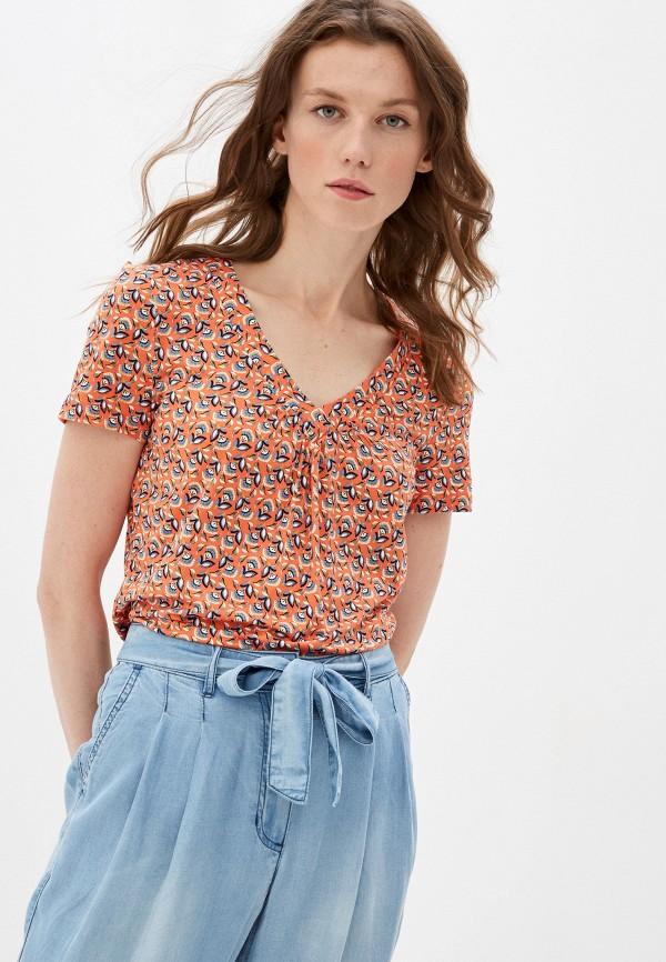 женская футболка taifun, оранжевая