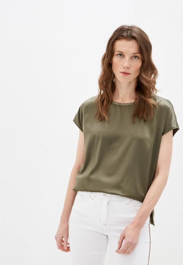 женская футболка taifun, хаки