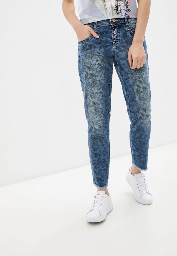 женские прямые джинсы taifun, синие