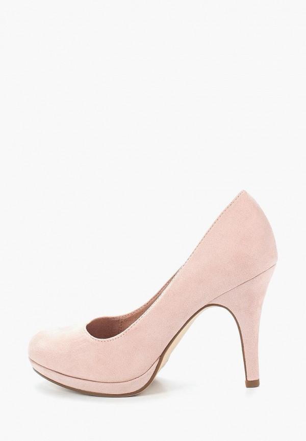 женские туфли tamaris, розовые