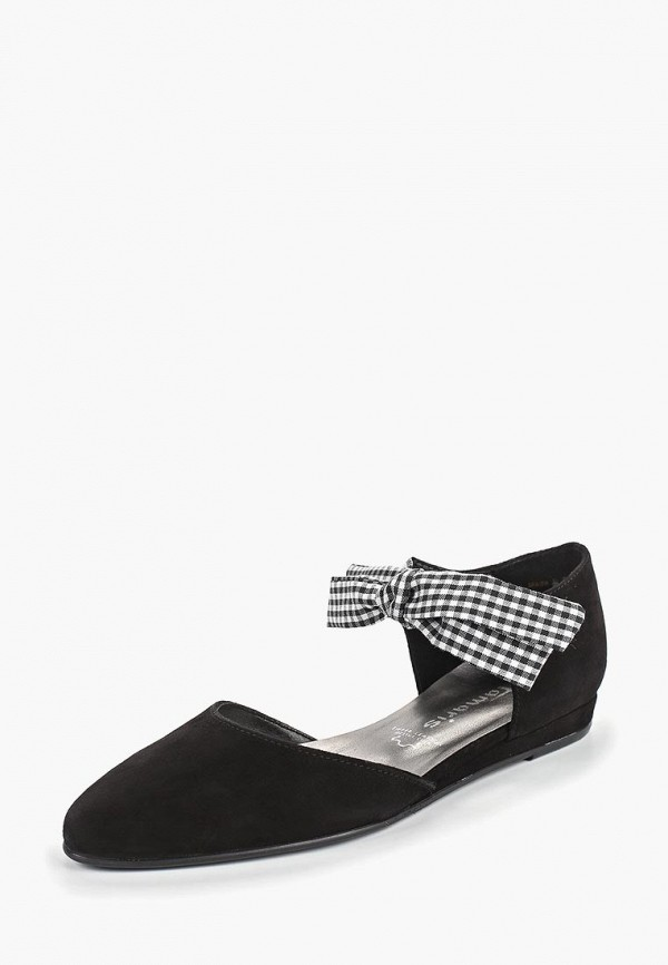 Фото 2 - женские туфли Tamaris черного цвета