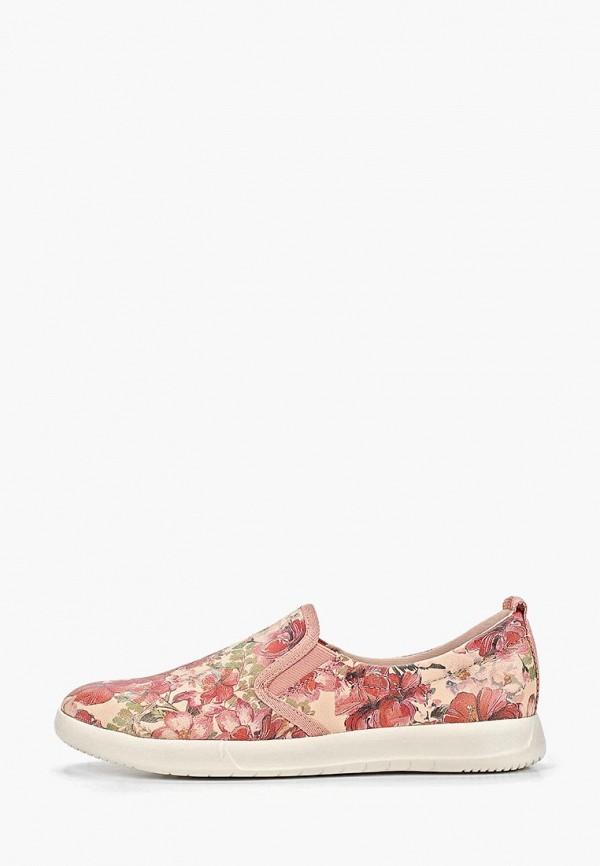 женские слипоны tamaris, розовые
