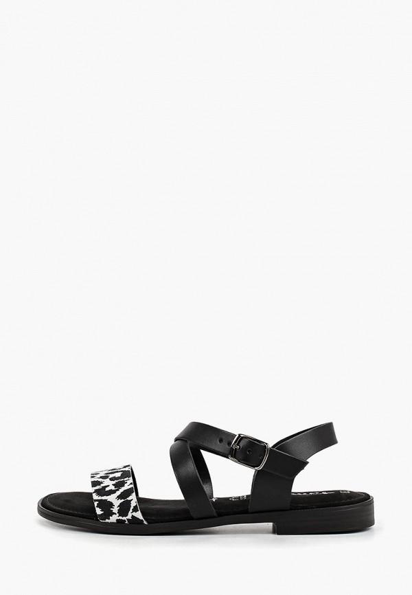 женские сандалии tamaris, черные