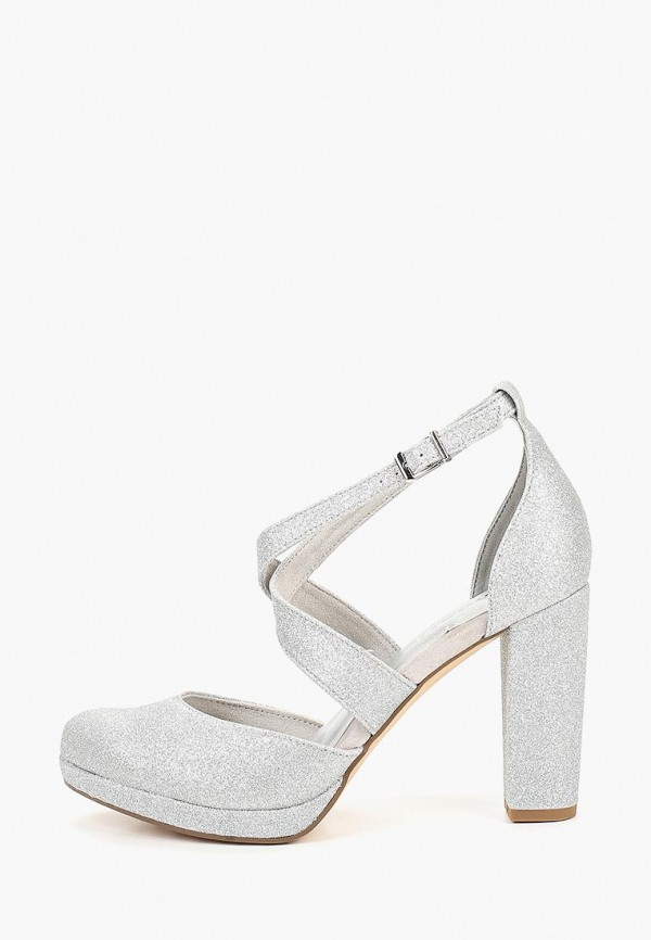 женские туфли tamaris, серебряные