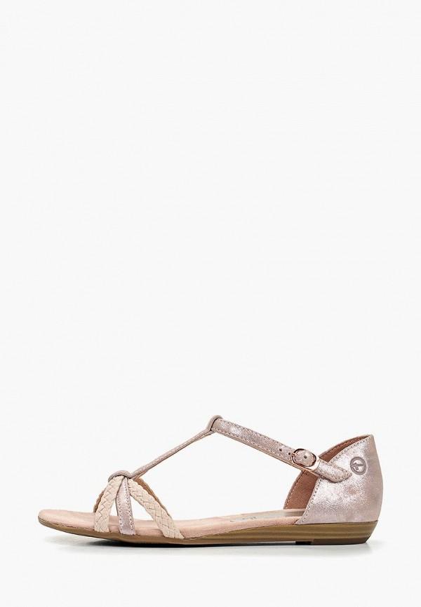 женские сандалии tamaris, розовые