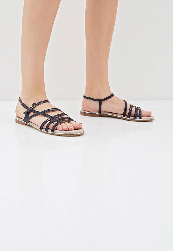 Фото 6 - женские сандали Tamaris синего цвета