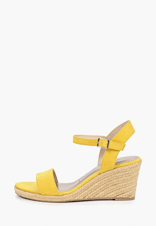 женские босоножки tamaris, желтые