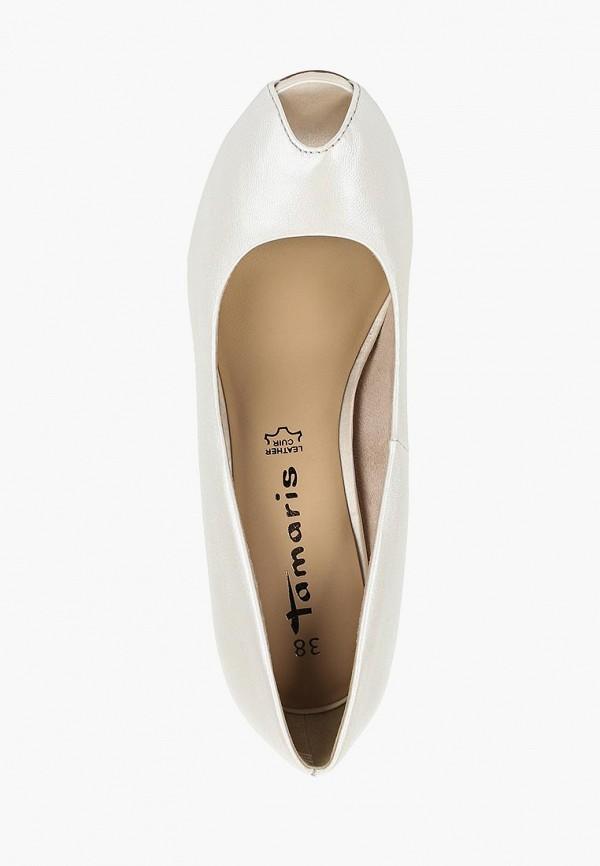 Фото 4 - женские туфли Tamaris белого цвета