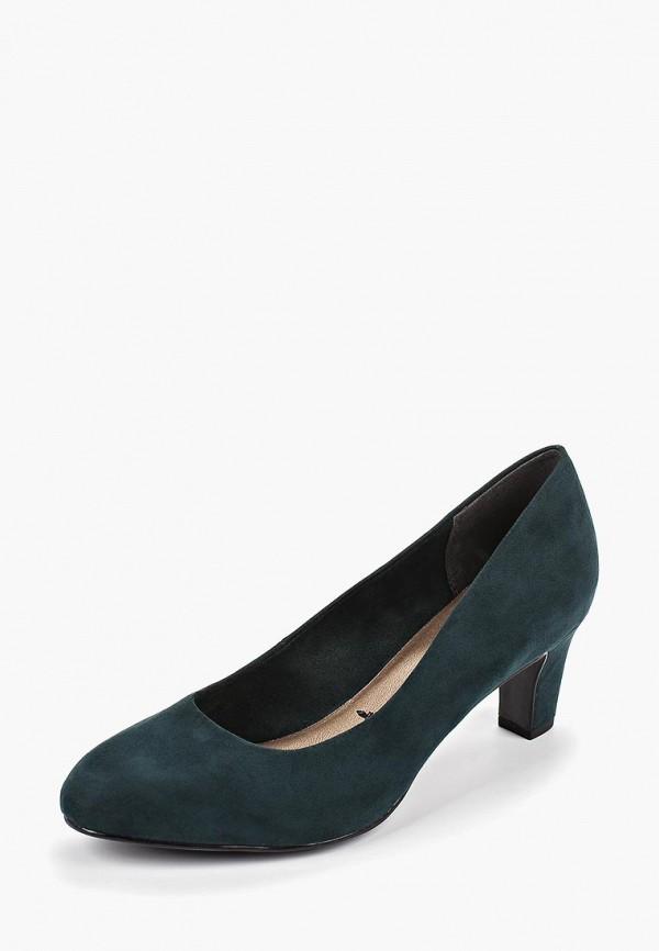 Фото 2 - Женские туфли Tamaris зеленого цвета