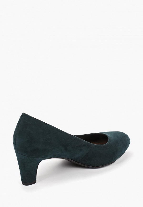 Фото 3 - Женские туфли Tamaris зеленого цвета