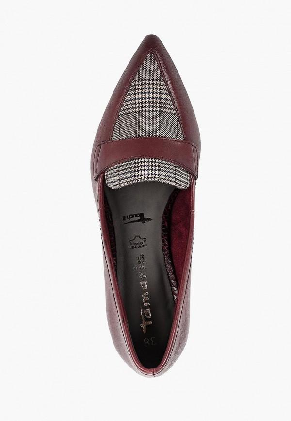 Фото 4 - Женские туфли Tamaris бордового цвета