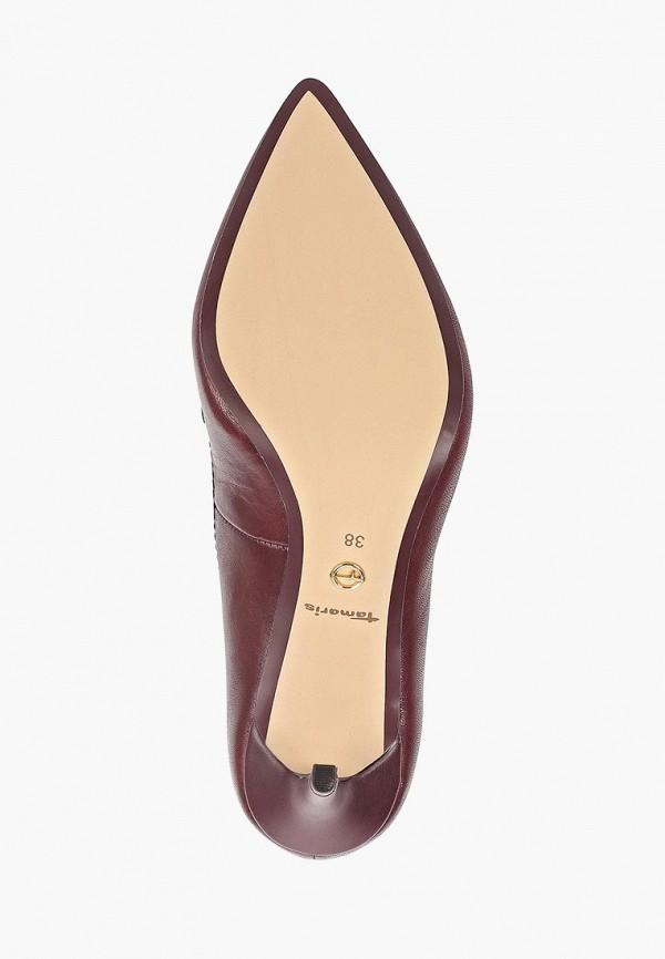Фото 5 - Женские туфли Tamaris бордового цвета