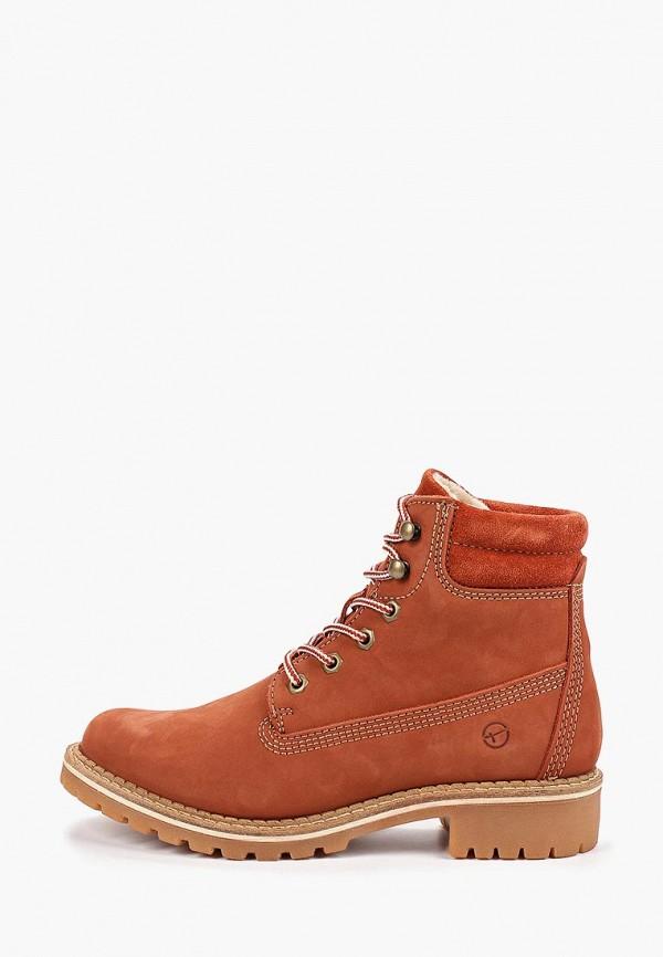 Фото - Женские ботинки и полуботинки Tamaris оранжевого цвета