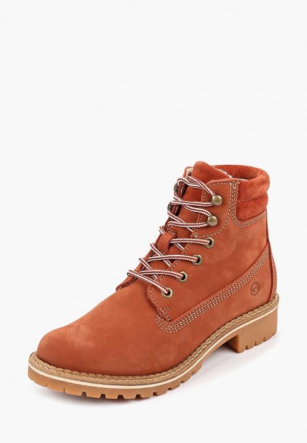 Фото 2 - Женские ботинки и полуботинки Tamaris оранжевого цвета