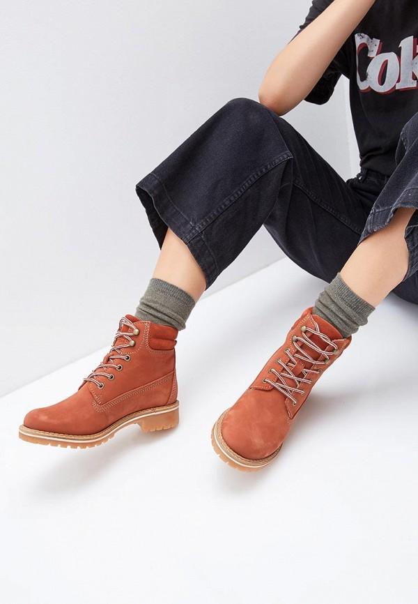 Фото 6 - Женские ботинки и полуботинки Tamaris оранжевого цвета